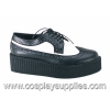 Creeper-408 White/Black Leather